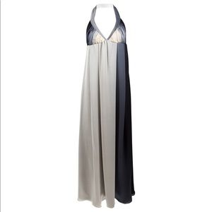 Kiki de Montparnasse Silk Halter Maxi Ombré Dress